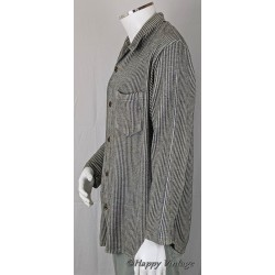 St Michaels  Mens Black  Stripe Flannel Shirt