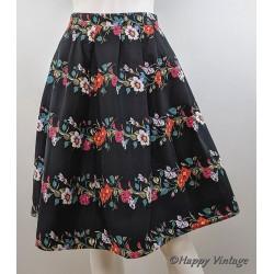 Black Flowered Skirt