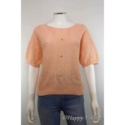 Peach Short Sleeved Jumper