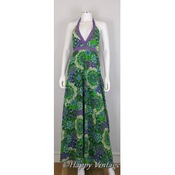 Green and Purple Maxi Dress