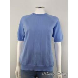 Pale Blue Short Sleeved Jumper