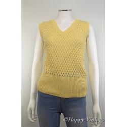 Yellow Crochet Style Tank Top