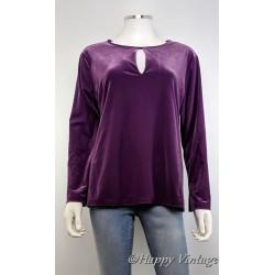 Purple Velvet Top