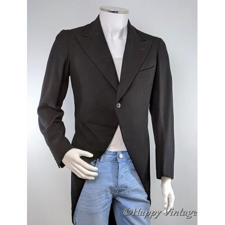 Vintage Black Morning Suit Tail Jacket