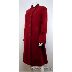 Red Black Trim Winter Coat