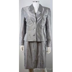 1980's Light Grey Dress and Jacket