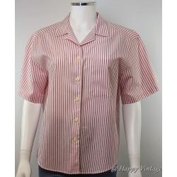 St Michael Pink Candy Strip Shirt