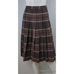 St Michaels Red Plaid Skirt