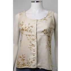 Floral Liz Claiborne Vest Shirt