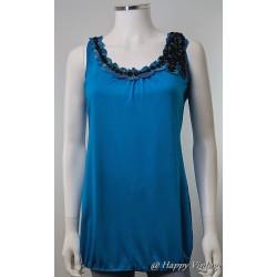 Turquoise Black Trim Dress