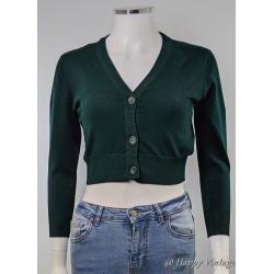 Retro Green Short Cardigan