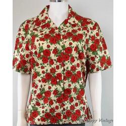 Vintage Red Rose Shirt