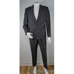50's Vintage Mens Grey Stipe Suit