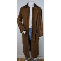 Mens Long Outdoor Country Brown Coat
