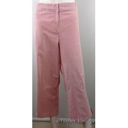 Pink Check Ladies Capri Trousers