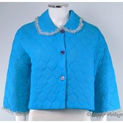 Blue Vintage Ladies Bed Jacket