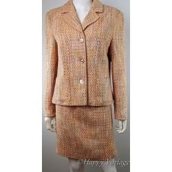 Vintage Style Ladies Pink Tweed Suit