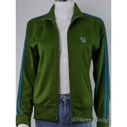 Retro Style Green Ladies Track Jacket