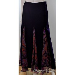 Crushed Purple  Velvet Skirt