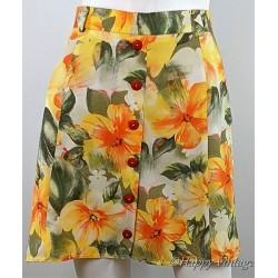 Vintage Short Flowered Skirt