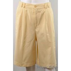 Vintage Yellow Ladies Shorts