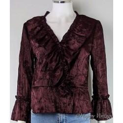 Burgunday Frill Jacket