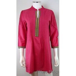 Pink Embroidered Kaftan Dress