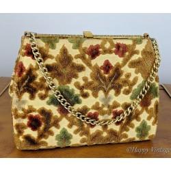 1950's Tapestry Carpet Handbag