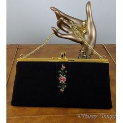 Vintage 1950-60 Black Evening Handbag