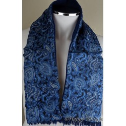 Tootal Blue Paisley Mens Scarf