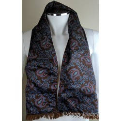 Tootal Mens Brown Paisley Scarf
