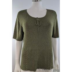 Olive Green Short Sleeve Jumper