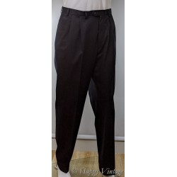 1980 M&S Black Pleated Mens Trousers