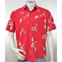 Vintage Mens Pink Hawaiian Shirt