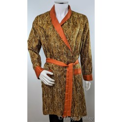 Vintage St Michael Mens Paisley Dressing Gown