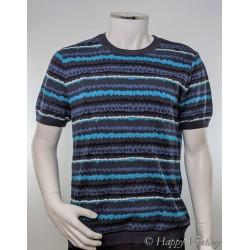 Vintage Topman Striped Blue and Black Jumper