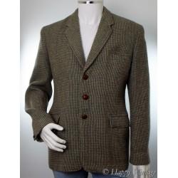 Green Harris Tweed Check Riding Jacket