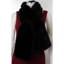 Black fur Neck Stole