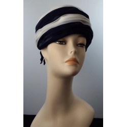 60's Blue and White Bow Hat