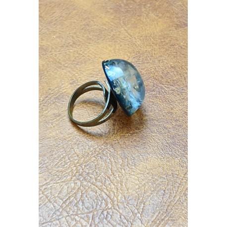 Blue Glitter Dres Ring