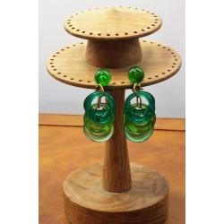 Vintage Green 1960 Plastic Earrings