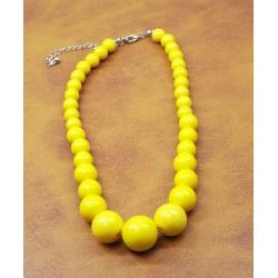 1980 Choker Yellow Beads