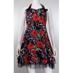 Red Skull Rockabilly Dress