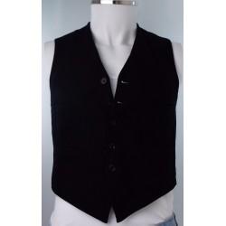 1920's Black Mens Waistcoat