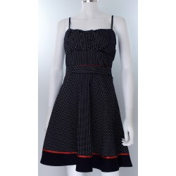 Blue and Red Polka Dot Dress