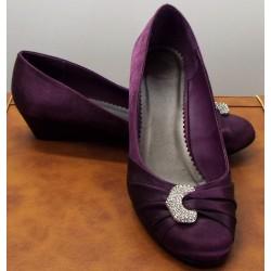 Purple Diamante Shoes
