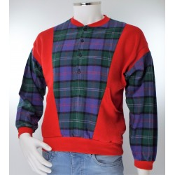 1980 Red SweatTop with Tartan