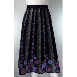 Black and Purple  Skirt
