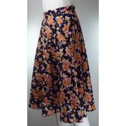 Vintage 1960/70's Orange and Pink Circle Skirt