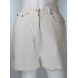 Vintage White Jean Shorts